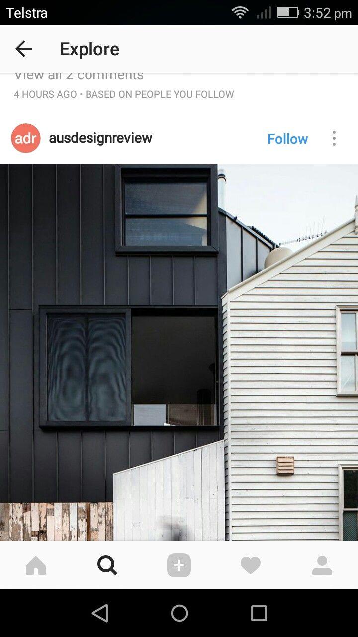 External black cladding daniela kiama pinterest