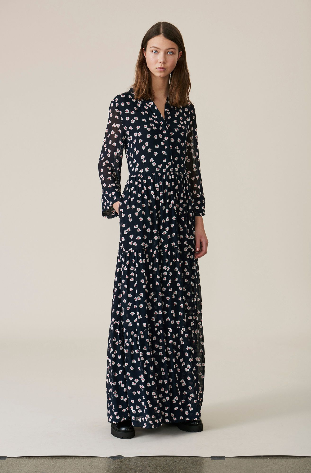 768b08d6 Rometty Georgette Maxi Dress, Total Eclipse | outfit for school in ...