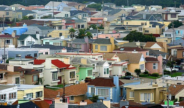 Westlake neighborhood in Daly City CA little boxes on the