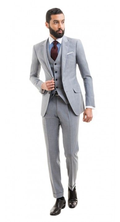 Light grey 3 piece pin strip 1920's style suit | Suits | Pinterest ...