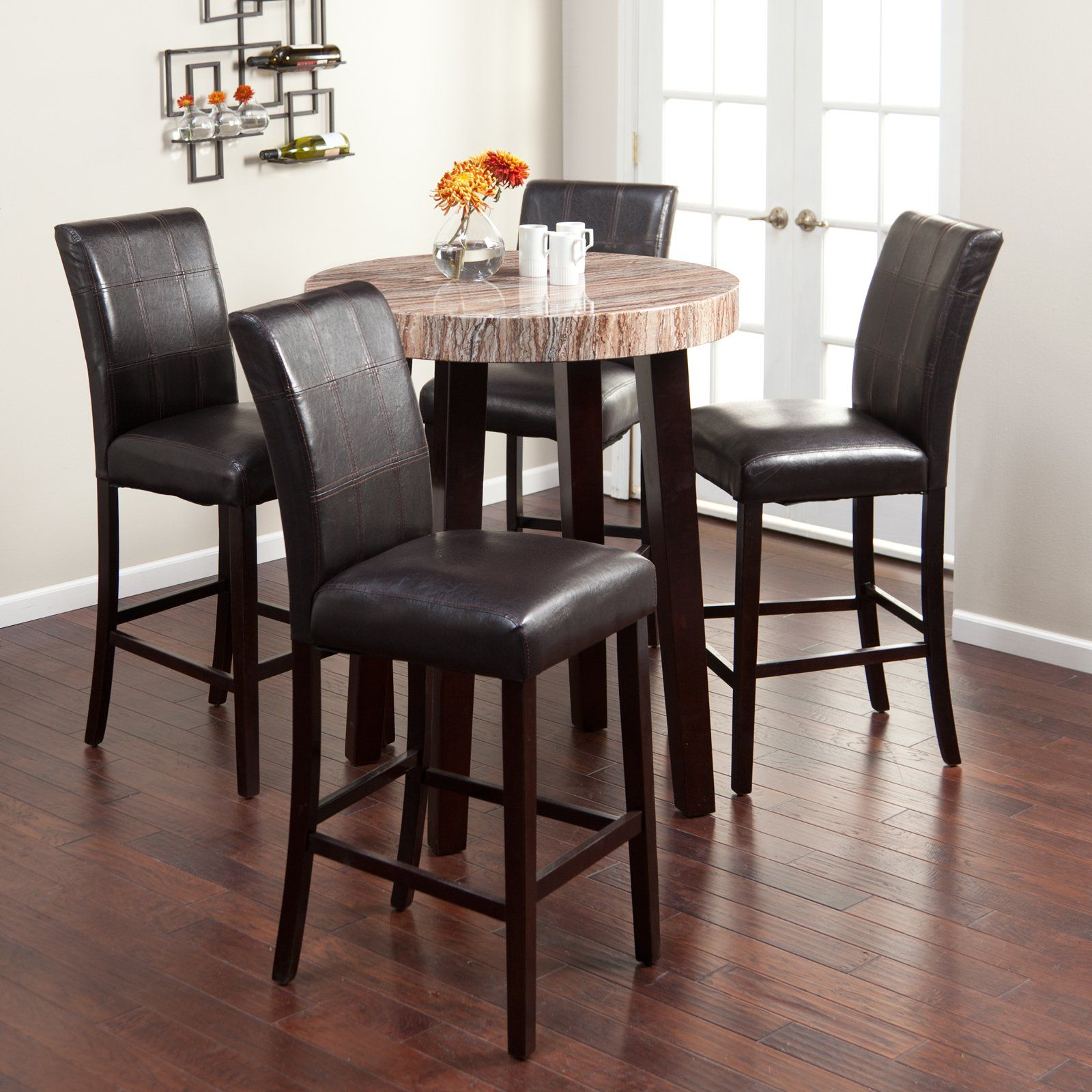 Round Pub Table Sets : Have To Have It Carmine 5 Piece Pub Table Set $49998  @hayneedle