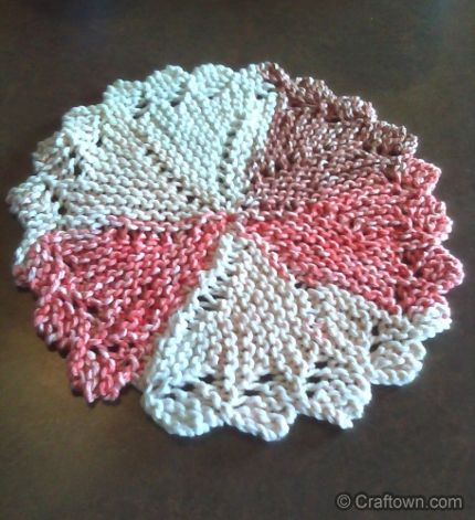 Knit a Pinwheel Dishcloth | Crochet patterns, Knit ...