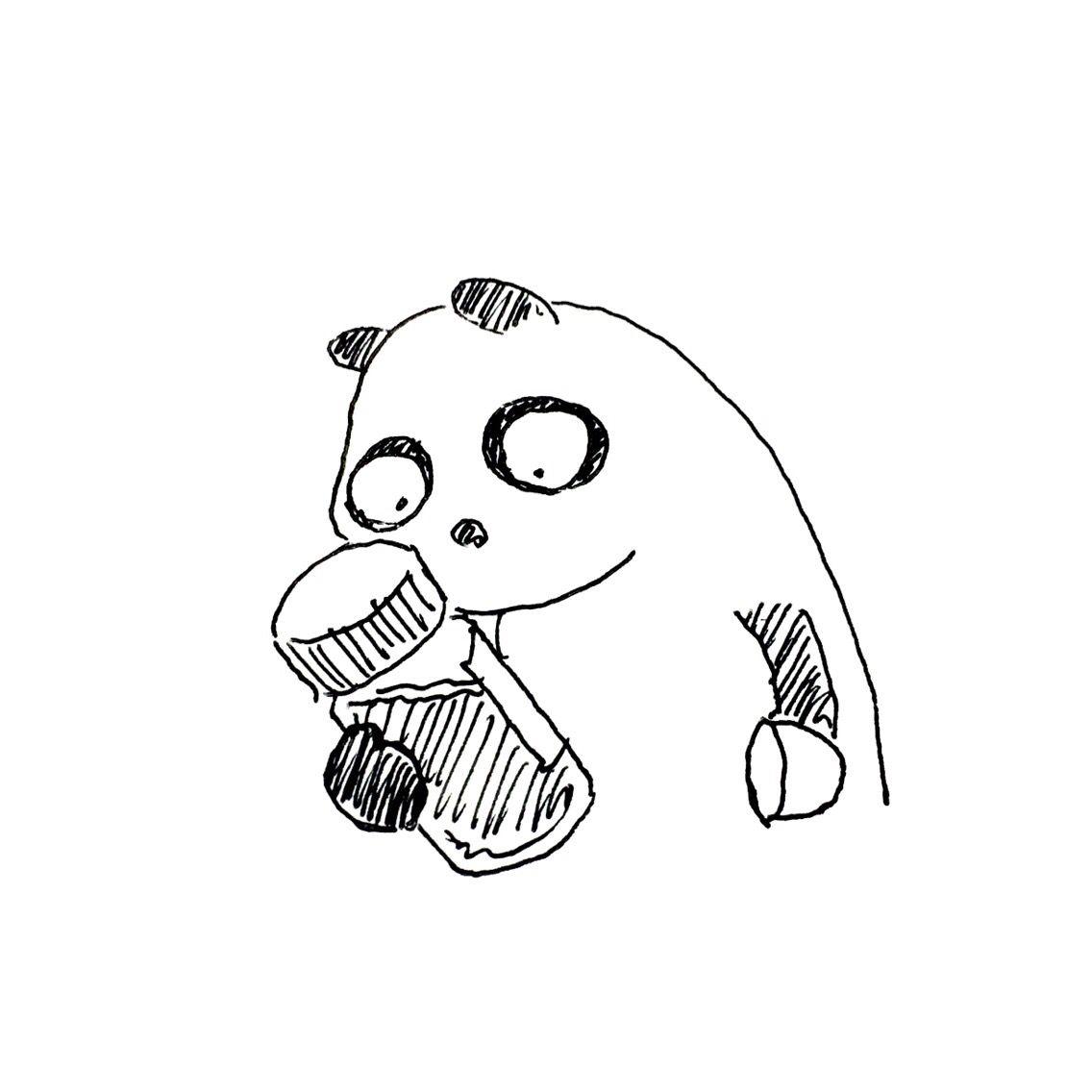 【一日一大熊猫】2016.4.5 お湯に溶かして飲むインスタントコーヒーは 最近ではレギュラーソリュブルコーヒーというんだね。 #パンダ #レギュラーソリュブルコーヒー