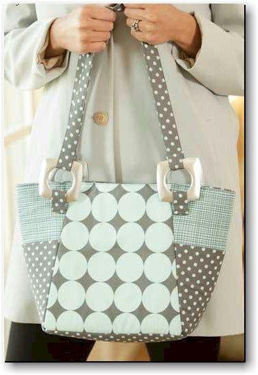 beginner 39 s urban tote bag pattern bolsas de tela. Black Bedroom Furniture Sets. Home Design Ideas