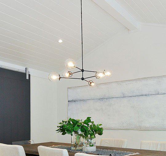 modern black chandelier / pendant lighting with edison ...