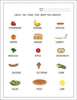 REPIN Healthy Food Worksheets. Plenty of free printable ...