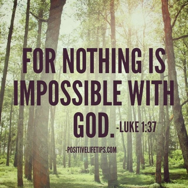 Image result for for with god, nothing is impossible