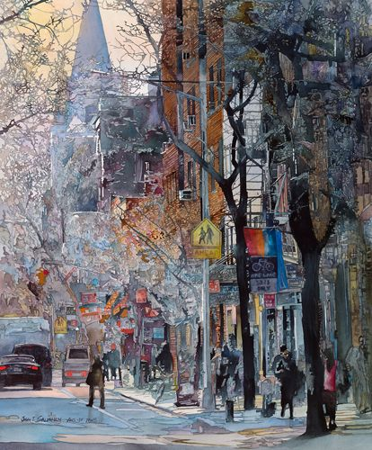 John Salminen - Greenwich Village #paisajeurbano