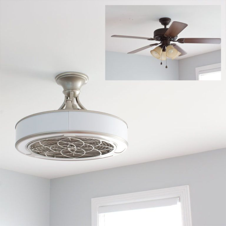 Modern Ceiling Fan With Enclosed Blades Ceiling Fan Modern Ceiling Fan Bedroom Modern Ceiling Fan