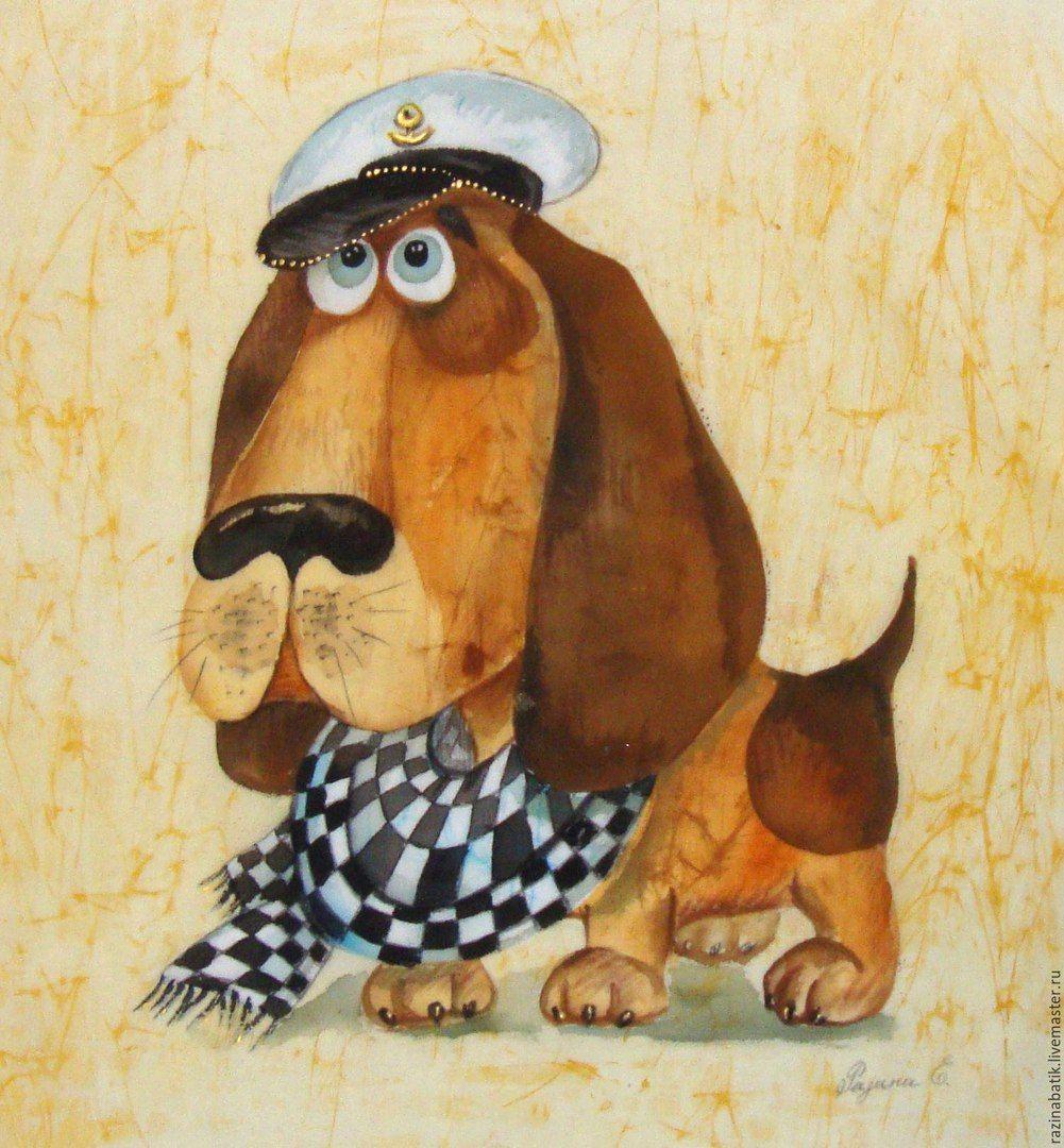 Смешной детский рисунок собаки