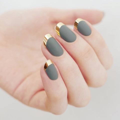 11 New Ways to Wear Matte Nails | Nail tape, Chrome nails ...