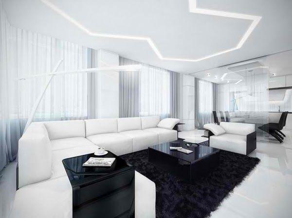 Décoration Salon en Noir et Blanc ~ Décoration Salon   Décor de
