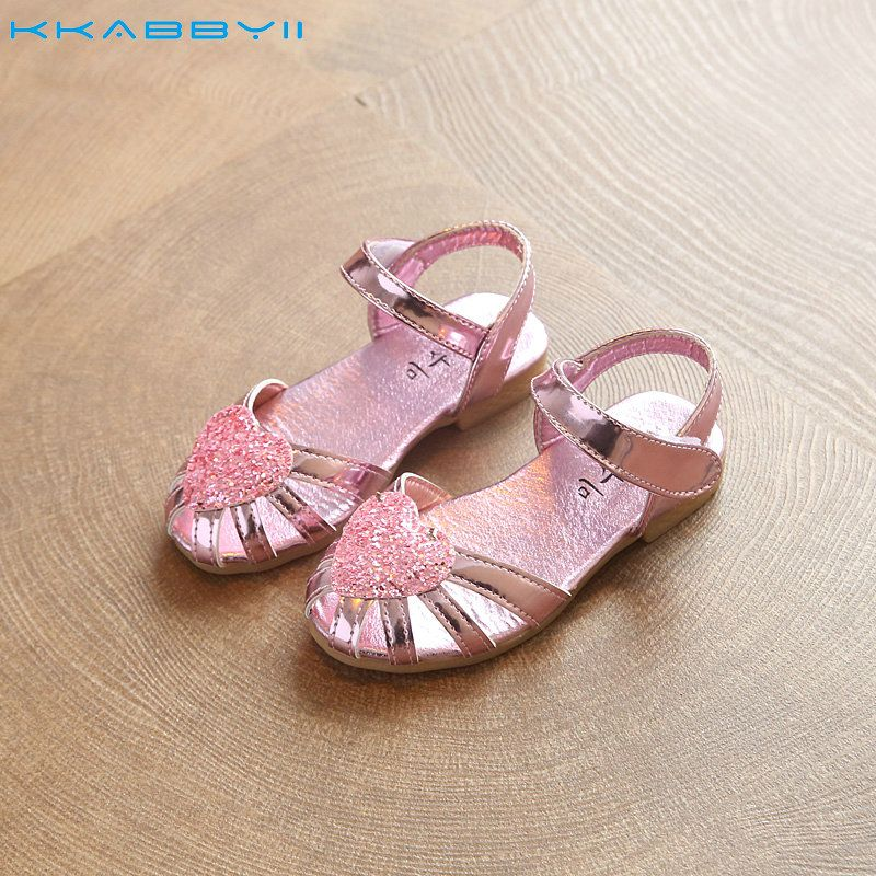 Click to Buy    KKABBYII Girls Summer Sandals Kids Bright Shoes Soft ... f8ae7dea529f