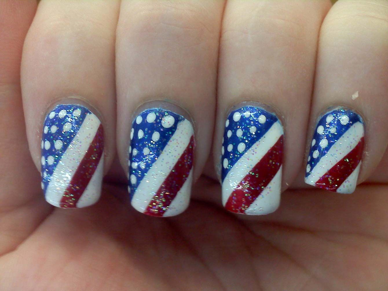 8 Techniques for 4th July Nails | NAILS | Pinterest | Nail nail and ...