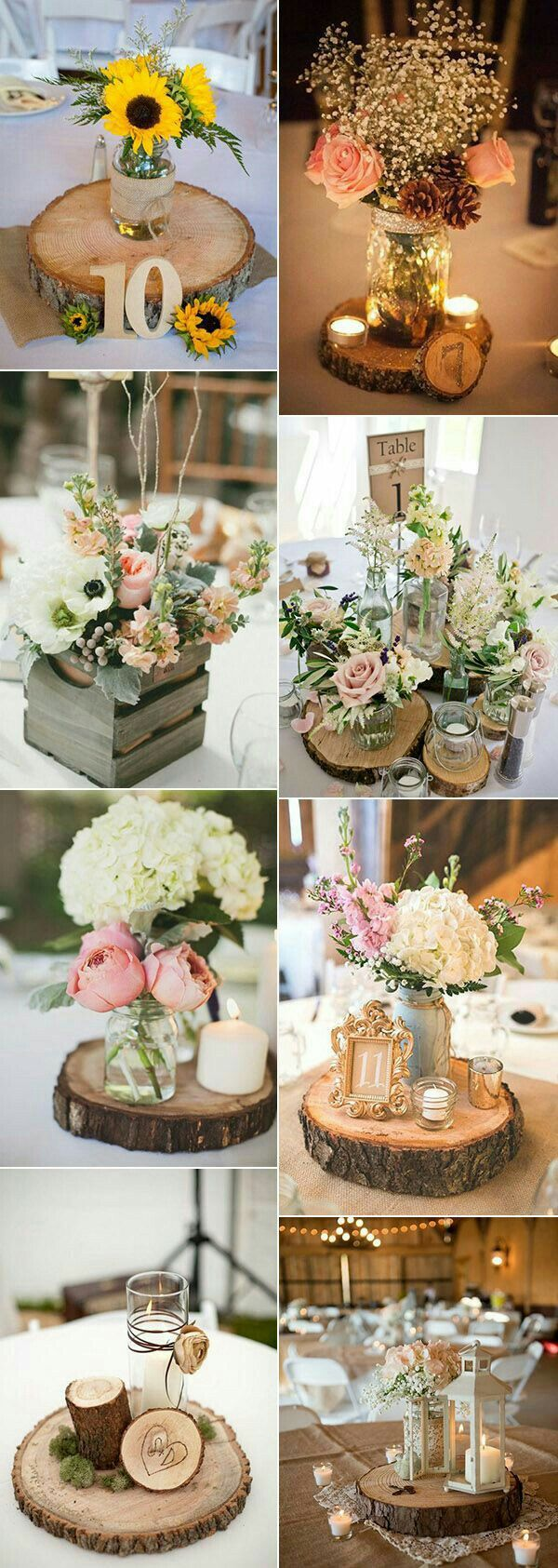 Centerpiece and other decorations future wedding pinterest