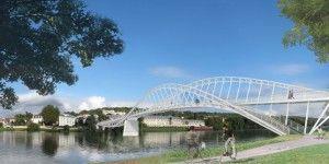 Footbridge between 'Meulan and Les Mureaux' - Marc Mimram
