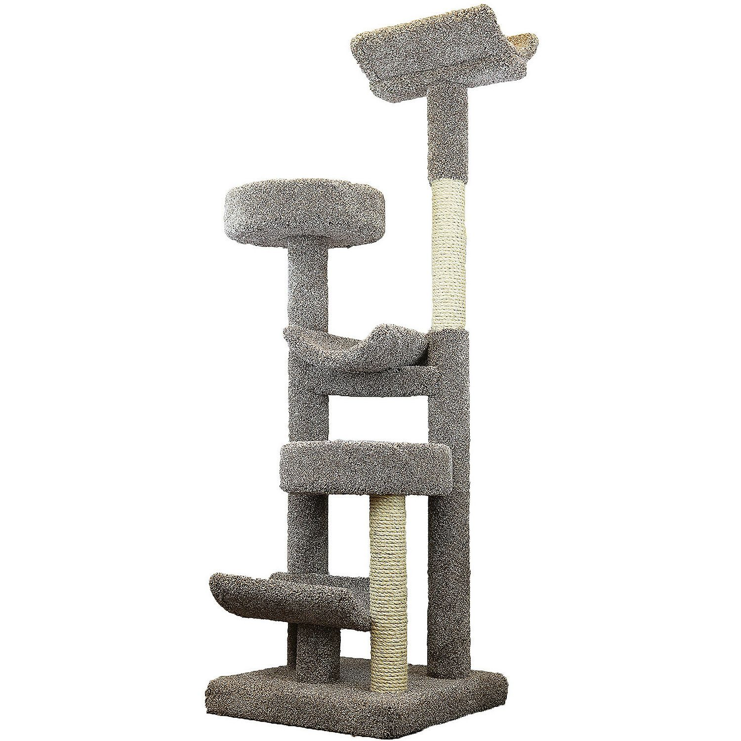 """Prestige Cat Trees 5 Level Staggered Cat PlayTower, 71"""" H"""