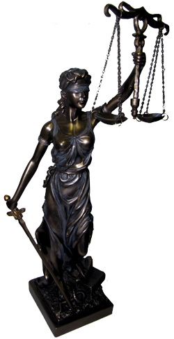 Justitia Themis Goddess of Justice & Law Statue Bronze Cast