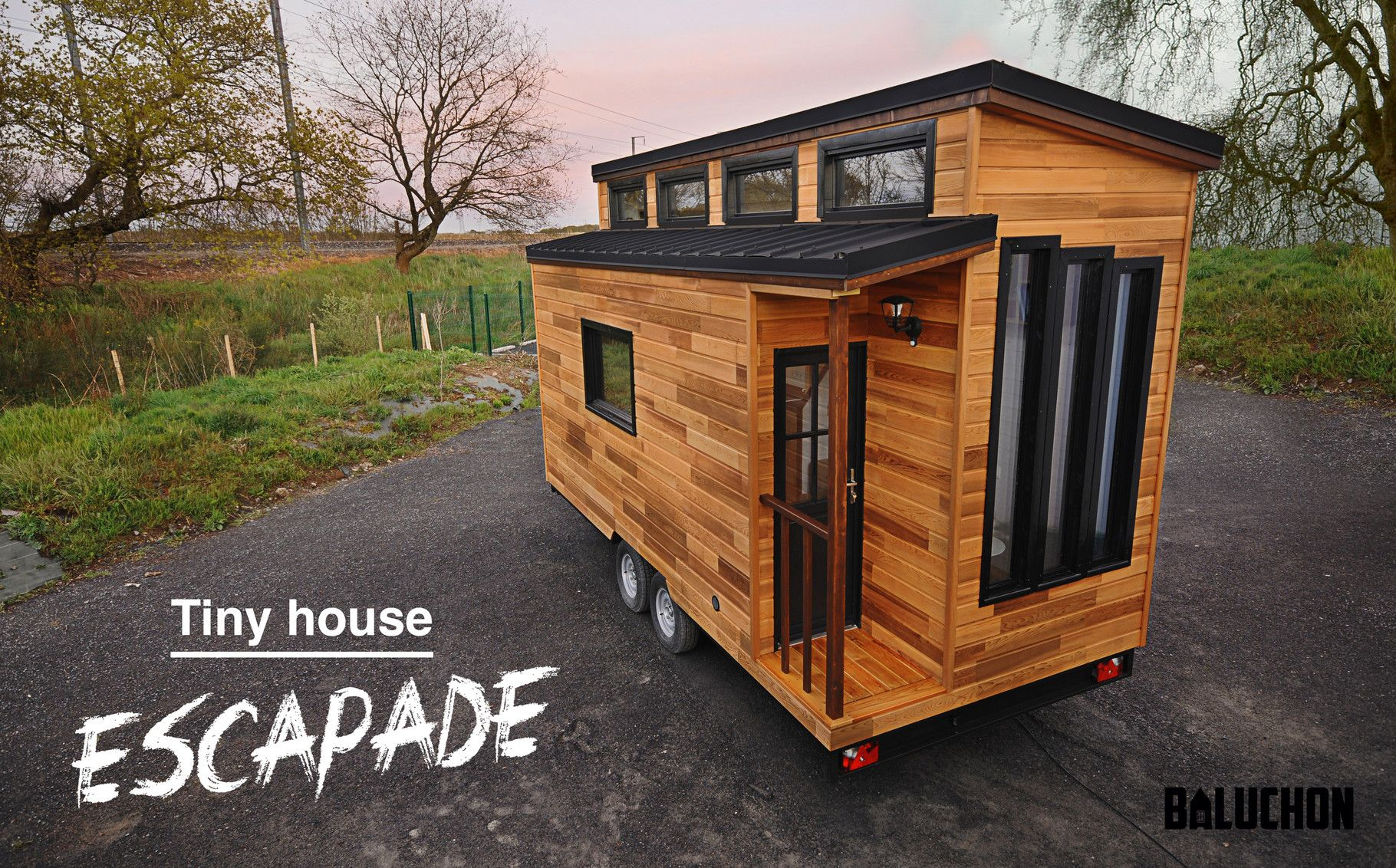Achat Remorque Tiny House la tiny house escapade - site de tinyhouse-baluchon