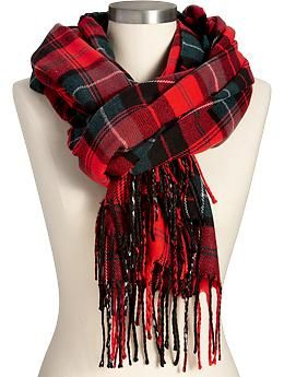 Classic Red Tartan Plaid Flannel Scarf from Old Navy, $15. Perfect ...