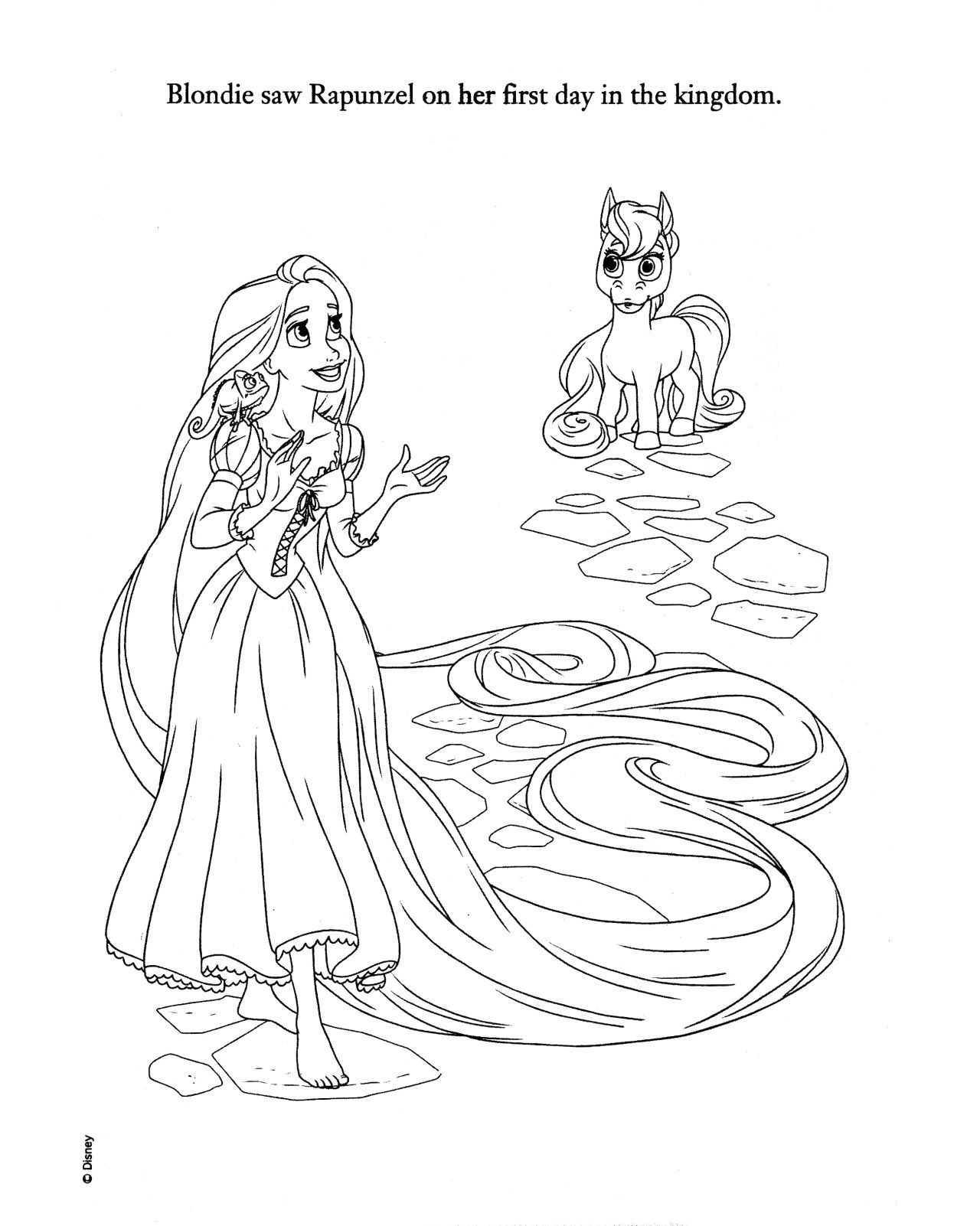 Coloriage Raiponce Tangled Coloring Pages Princess For S Disney