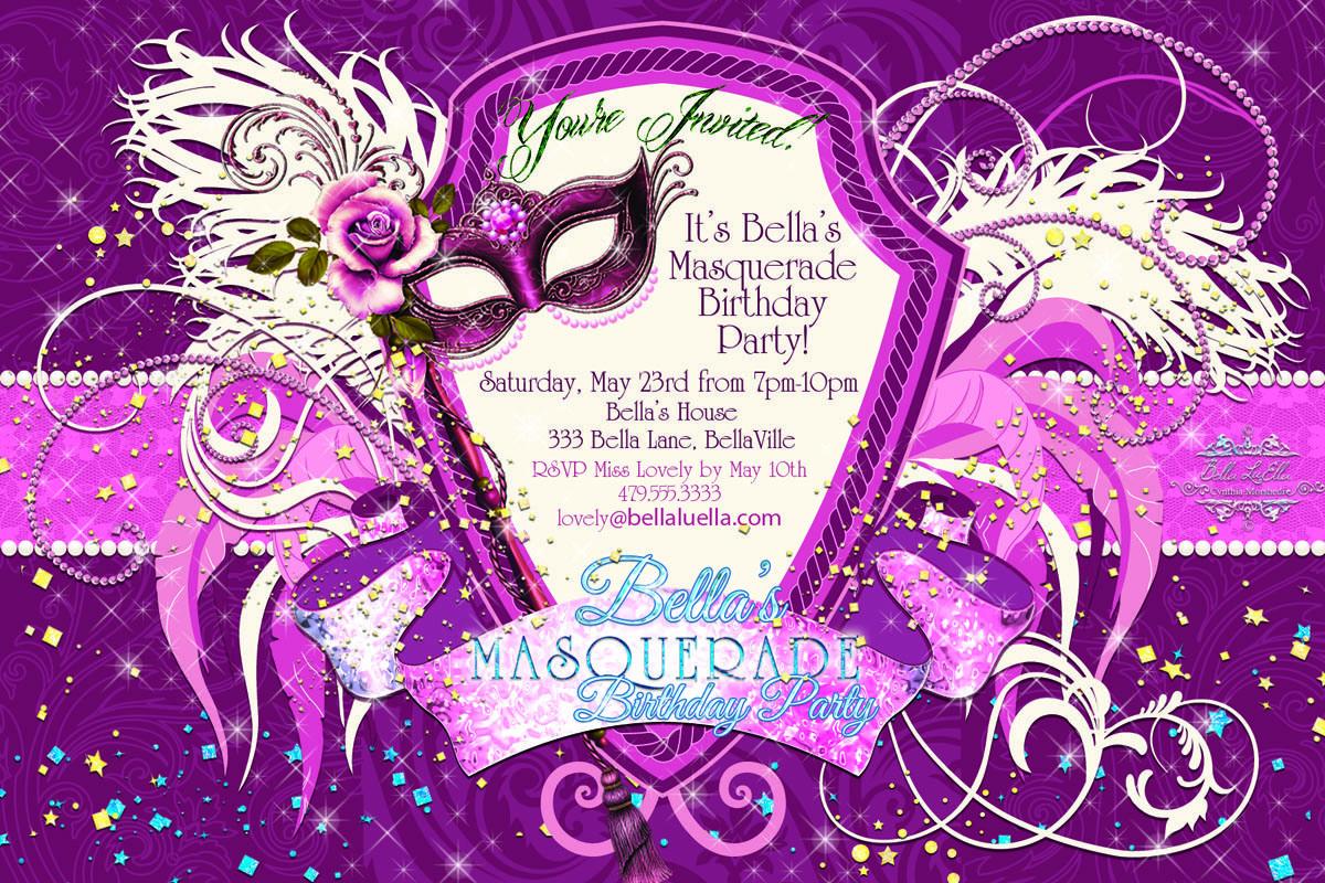 masquerade party invitations templates free - Paso.evolist.co
