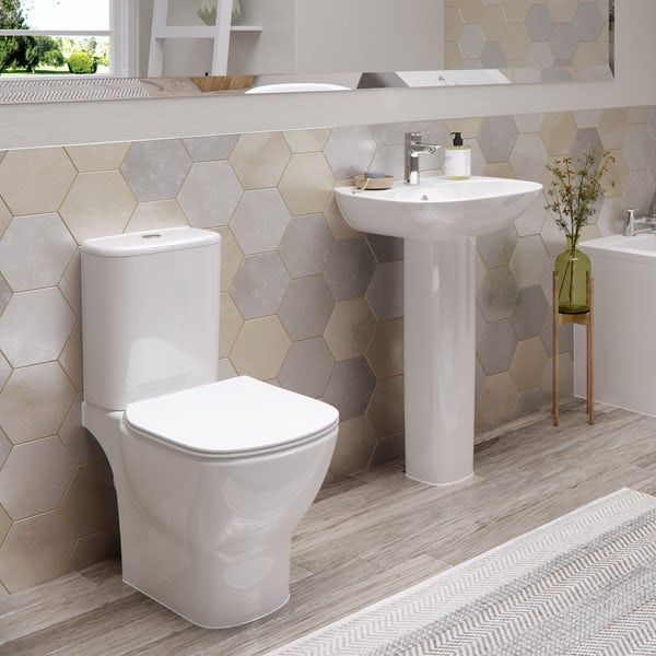 Ideal Standard Tesi cloakroom suite with full pedestal