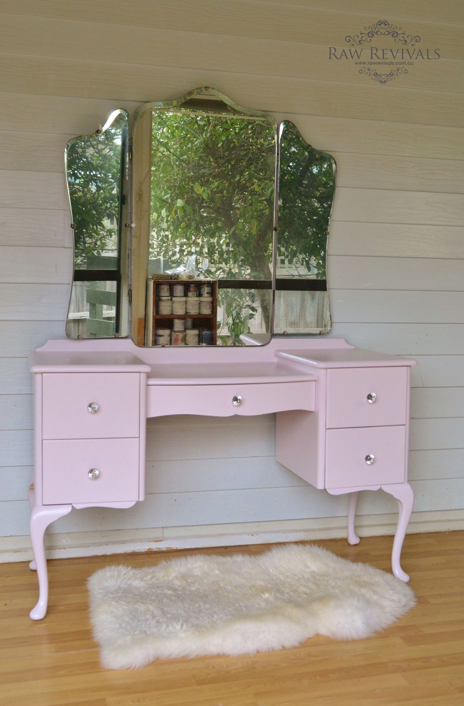Antique French Provincial Dressing Table Queen Anne Style