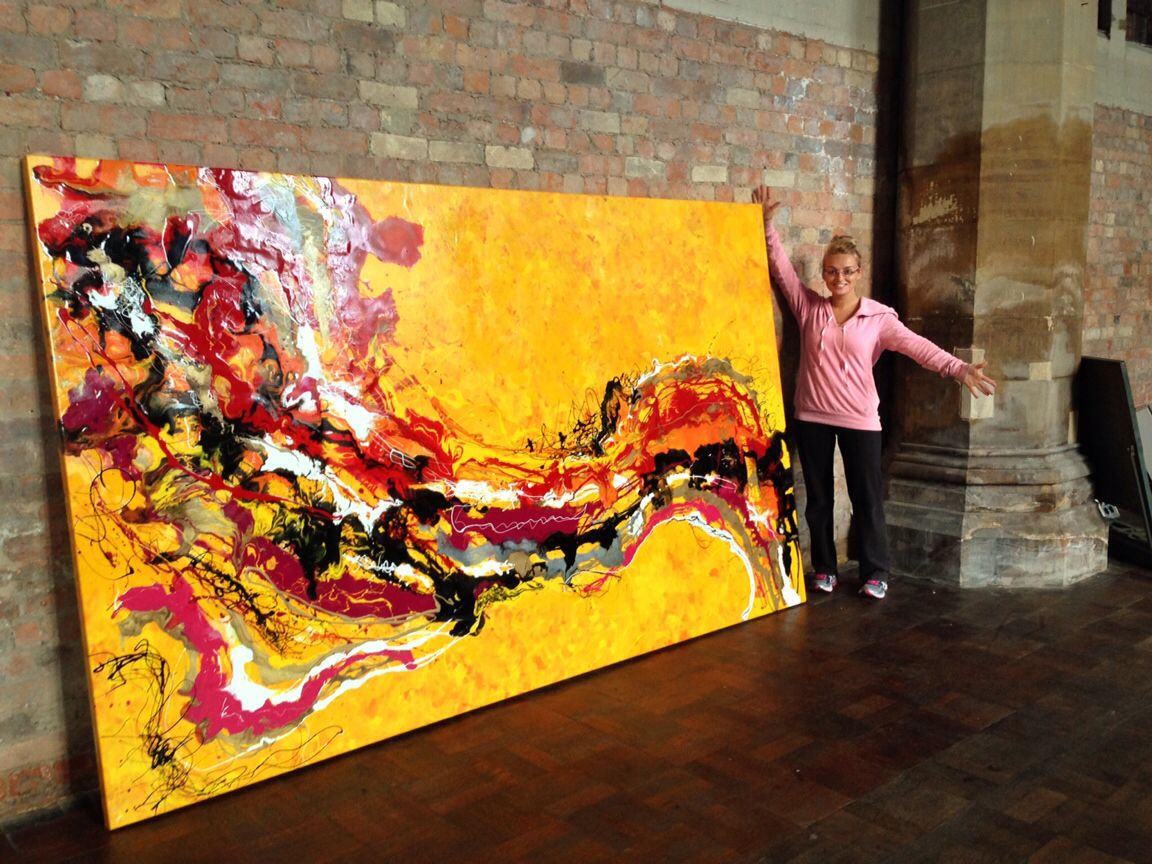A MASSIVE commissioned painting recently! 3x2 METRES! www.littledot ...