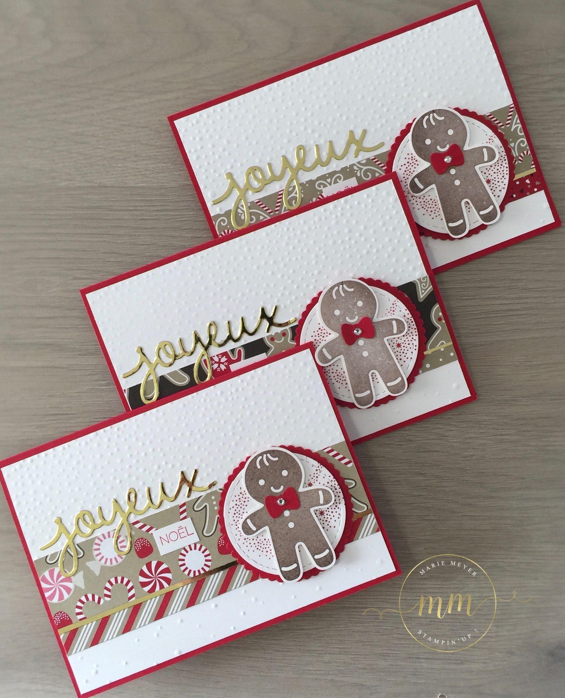 Cartes de Noël Emporte pièce et papier Design Canne de Noël