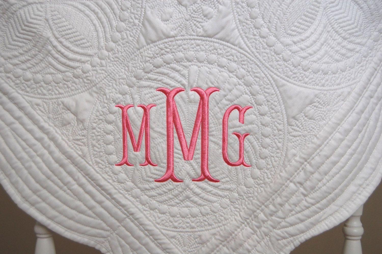 New baby gift monogram baby quilt baby quilt baptism gift new baby gift monogram baby quilt baby quilt baptism gift monogram or negle Gallery
