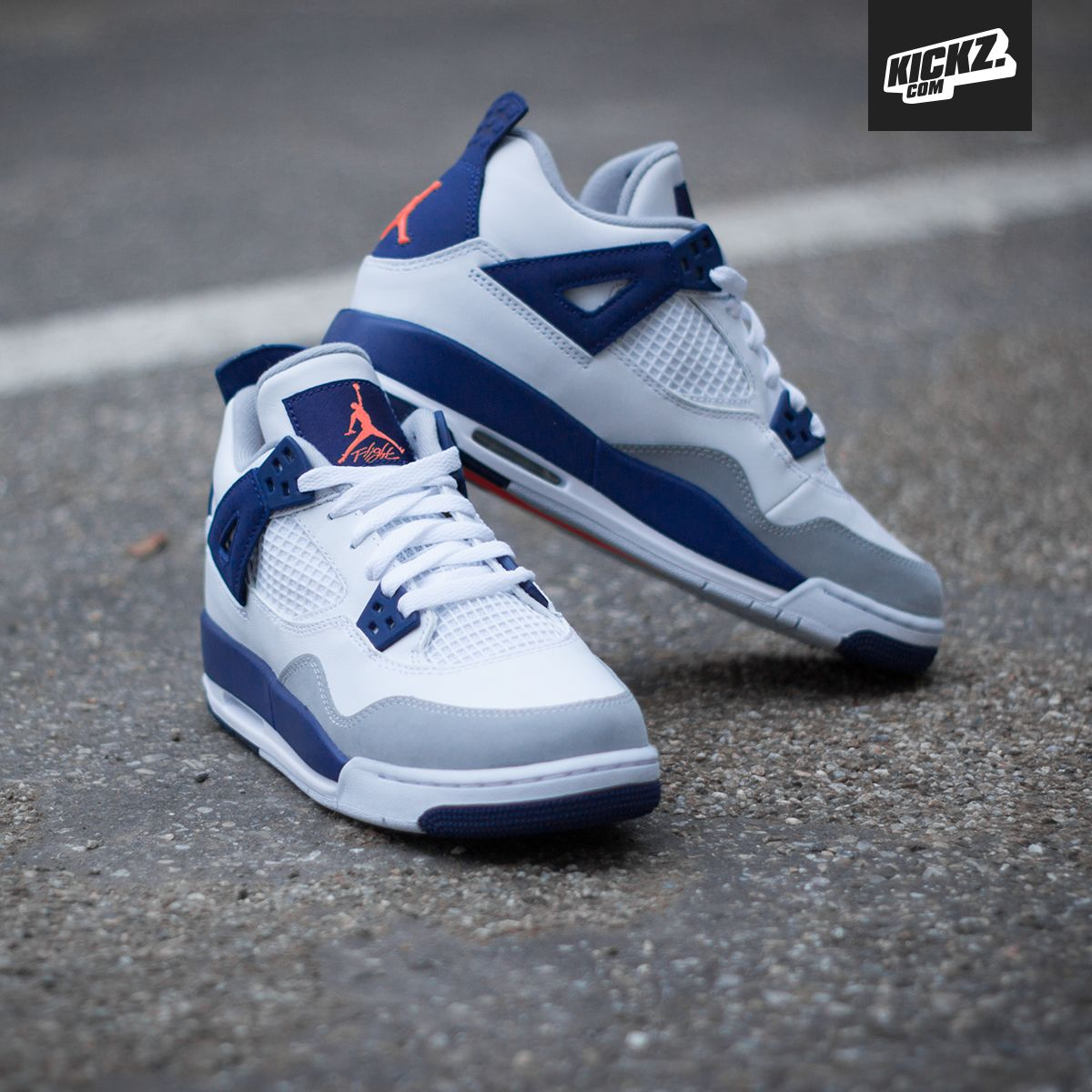 8c1700a395dd  hypebeastkids  Air Jordan 4 Retro GG White Hyper Orange-Deep Royal  Blue-Wolf Grey