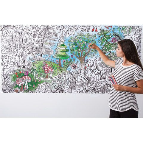 Coloring Wallpaper Wall Art To Color Giant Size By Adventacular