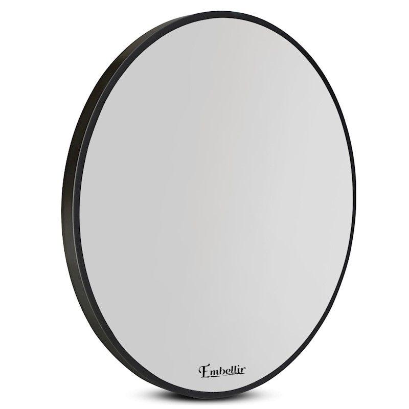 Embellir 60cm Wall Mirror Round Frameless Polished Bathroom Makeup
