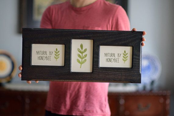 Collage Picture Frame 3 4x6 Eco Friendly Rustic Barnwood Multi