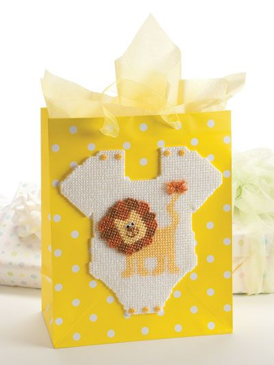 Plastic Canvas Special Occasion Gift Bag Topper Pattern From E