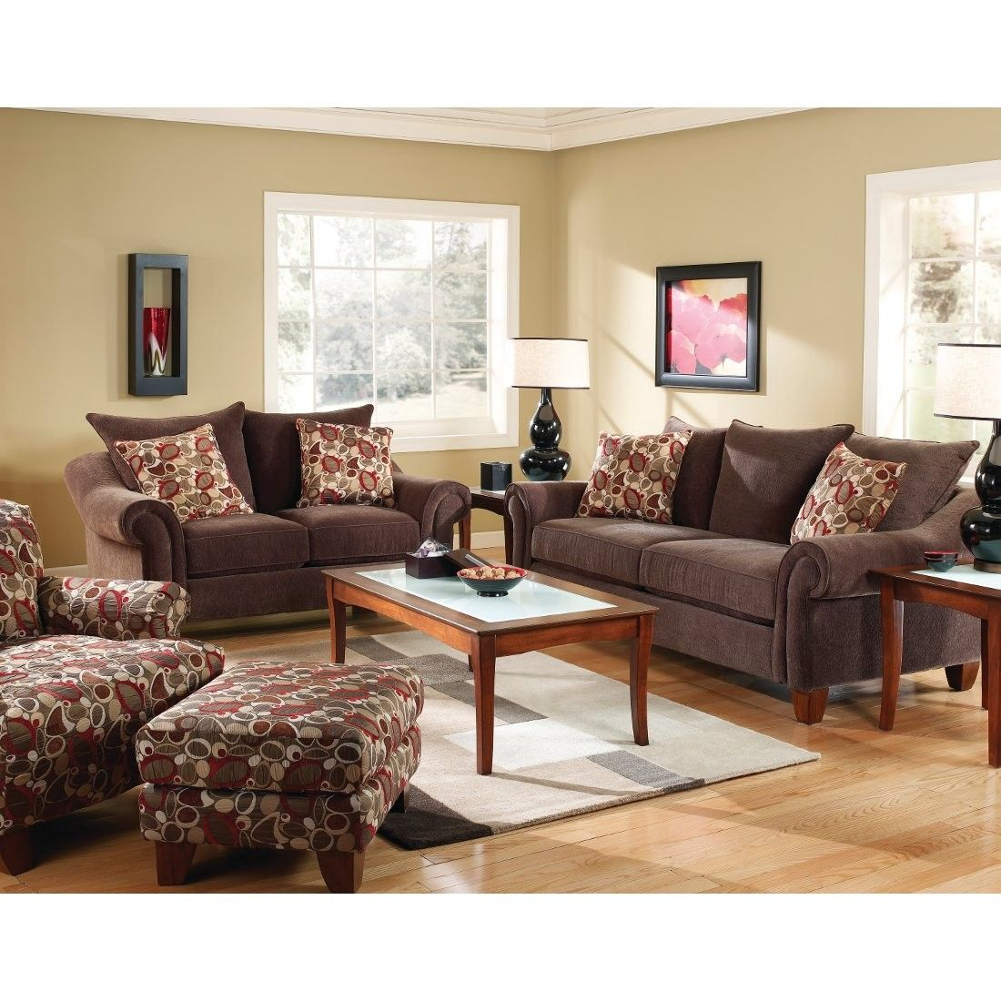 Corinthian Evolution Ottoman Copper Ao128 Conn S Red Living Room Set Stylish Living Room Sofa And Loveseat Set