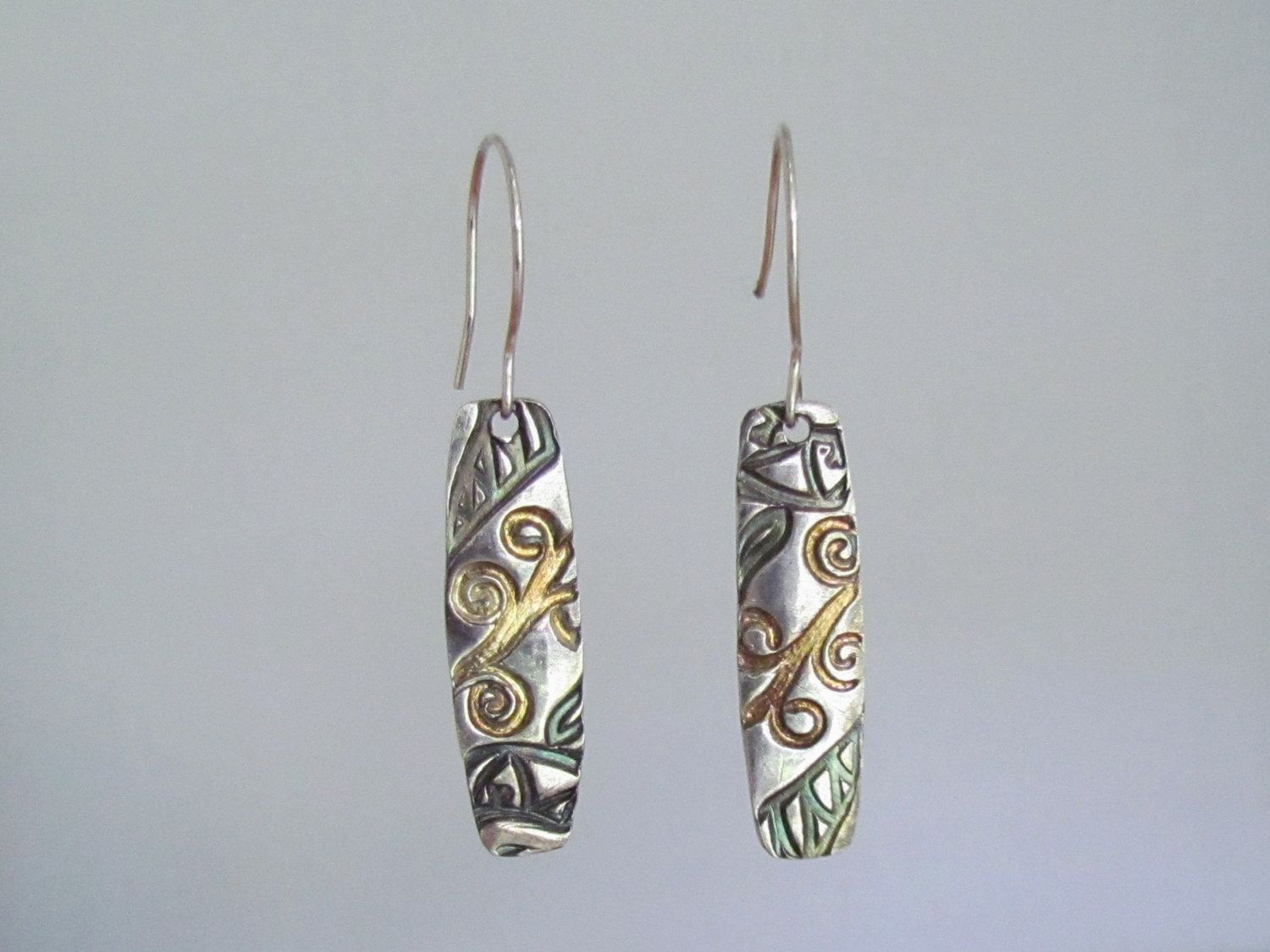 Item 4177 - Handcrafted, sculpted and carved 999 Fine Silver Inlaid with 24K…