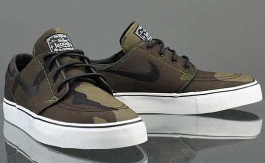 For the month of September, Nike SB drops Stefan Janoski's signature model  in an all-new camo colourway, sporting a canvas upper.
