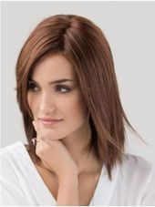 without bangs synthetic straight monofilament auburn women