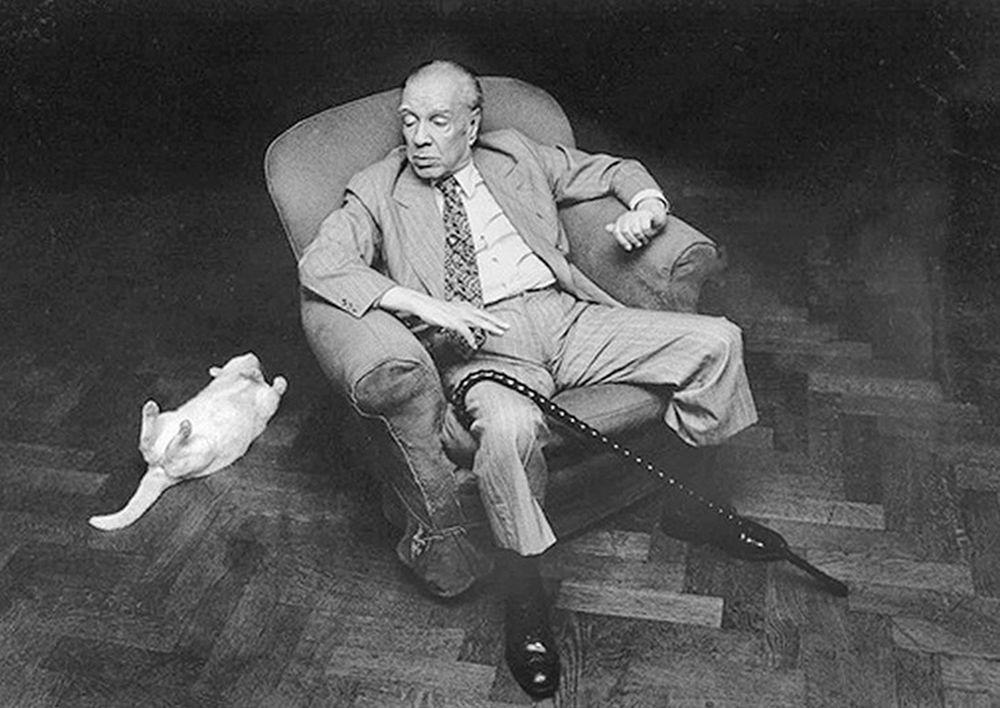 Resultado de imagen para Jorge Luis Borges gato