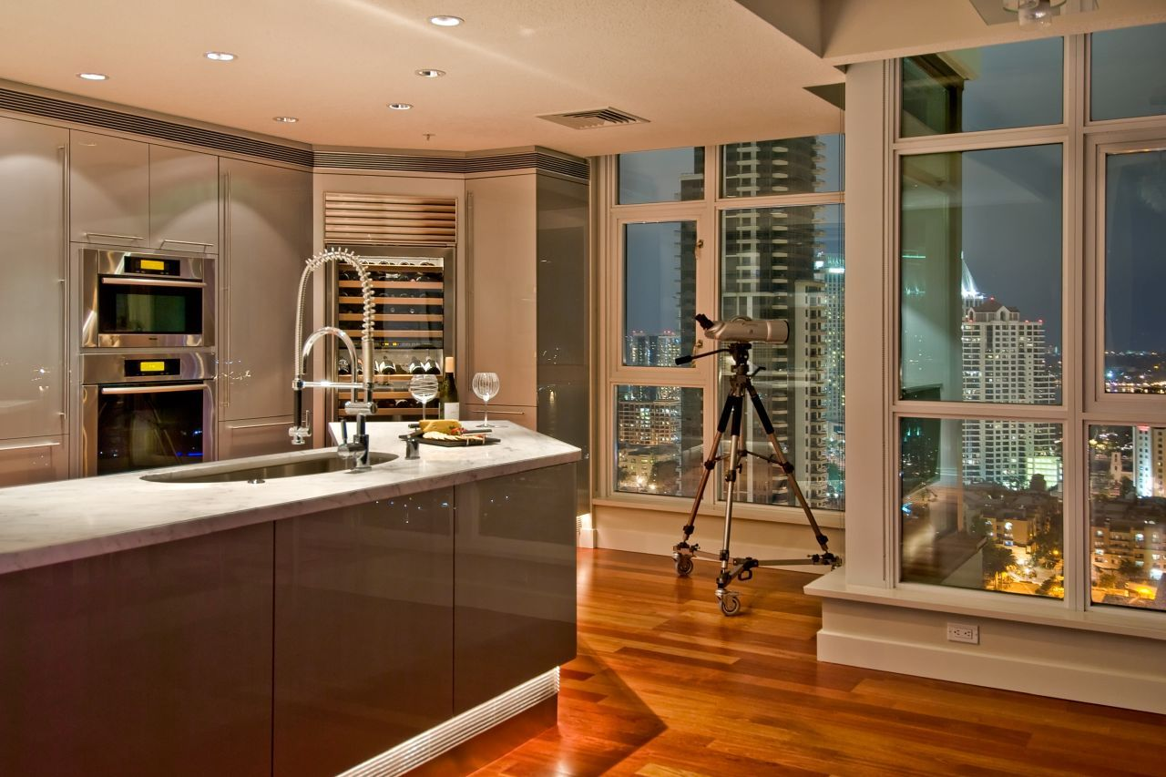 A lot of kitchen space is what I would love to have !!