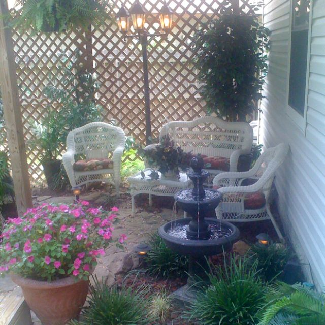 Little Sitting Area In Back Yard Was A Former Mud Hole