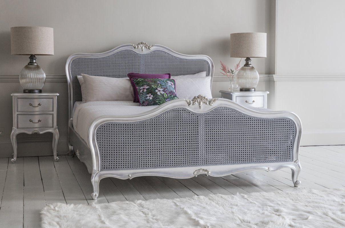 Comstock Cane King Bed Frame King bed frame, Bed frame