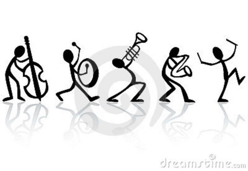 Musical instrument by icon: Stick figure band. #musicalinstruments