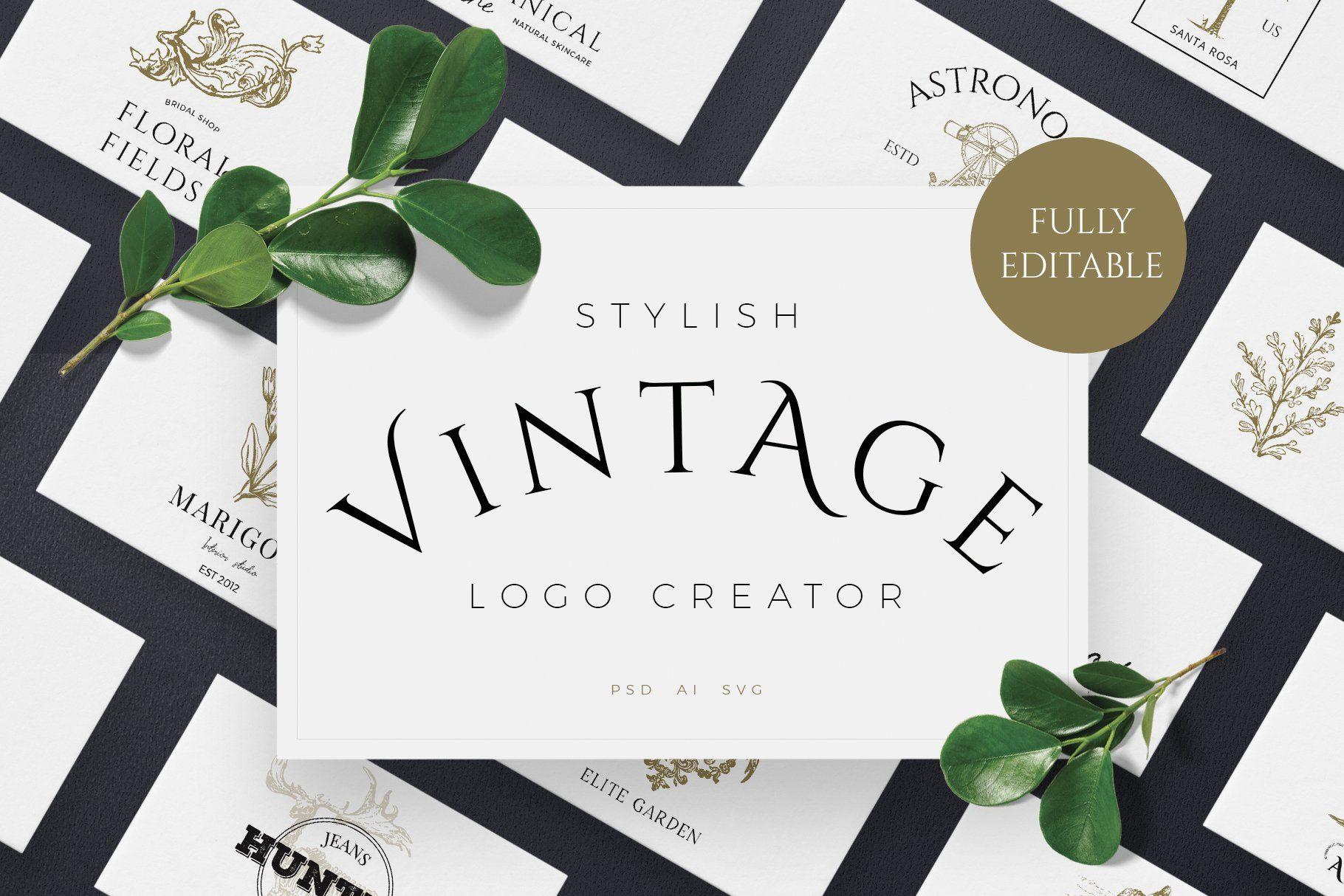 Vintage Logo Creator Kit в 2020 г Дизайн