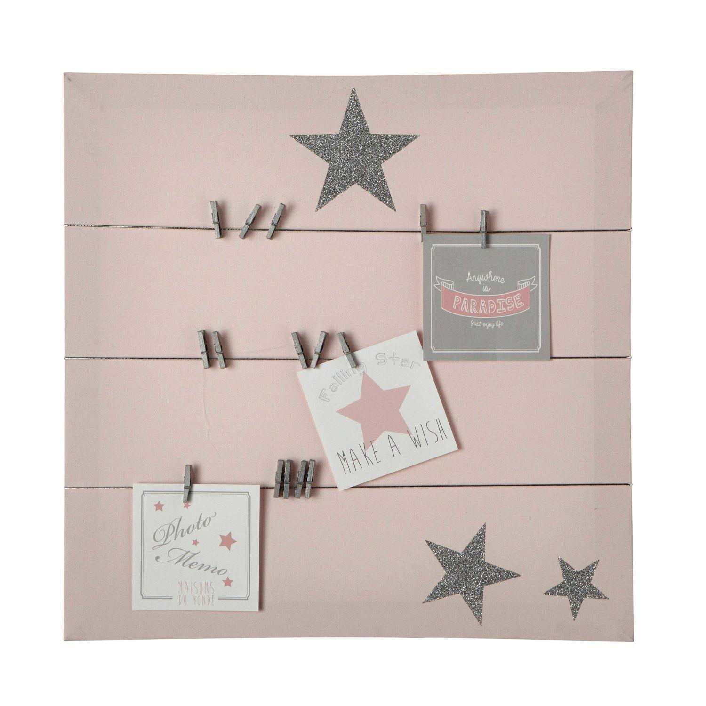 pink canvas memo board 45x45  maisons du monde