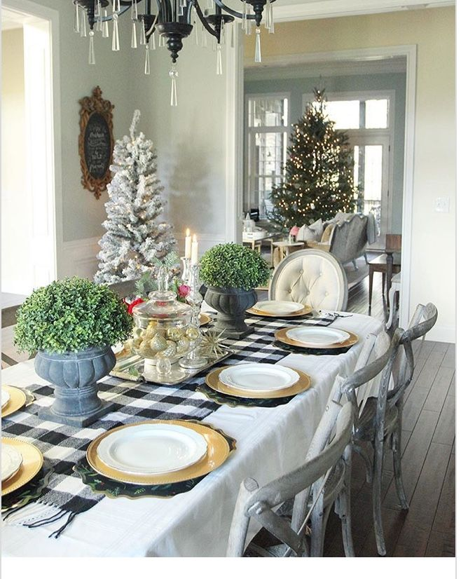 Pin by grace jerome on christmas inside the house home table decorations also rh pinterest