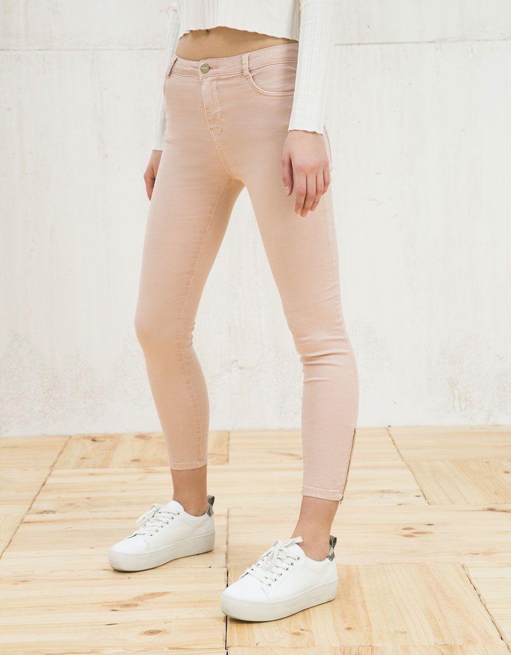 cebbce6248b9 Skinny cropped trousers. Discover this and many more items in Bershka with  new products every week
