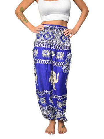 Old Bet Blue Elephant Harem Pants by The Elephant Pants